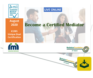 Download our Mediation Training Course Brochure